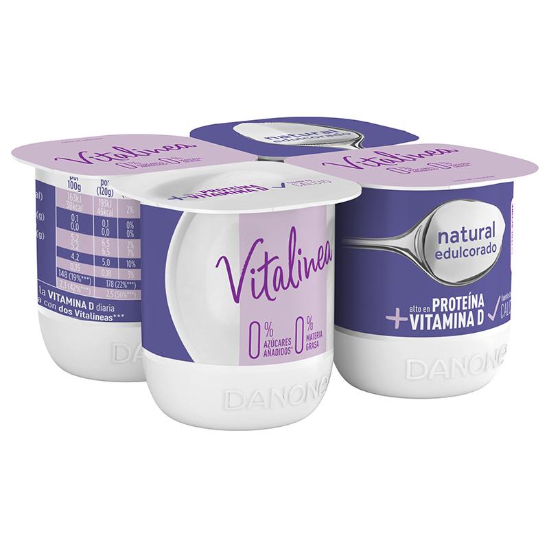 Yogur natural desnatado vitalinea