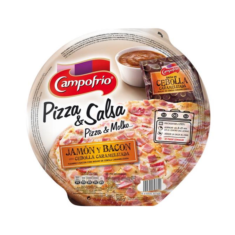 PIZZA JAMÓN Y BACÓN